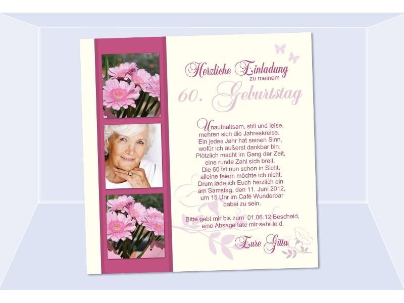 Einladung Geburtstag, Fotokarte, Einladungskarten, creme rosé