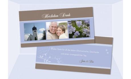 Danksagungskarte Karte Hochzeit, Silberhochzeit, Goldene Hochzeit