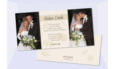 Danksagungskarte Karte Hochzeit, creme