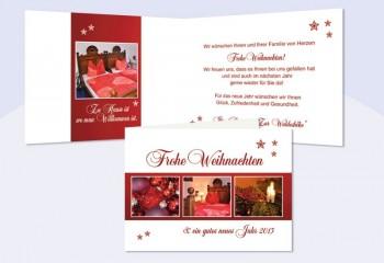 Weihnachtskarte geschäftlich mit Firmenlogo