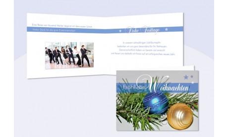 """Weihnachtskarte geschäftlich """"Goldglanz"""""""