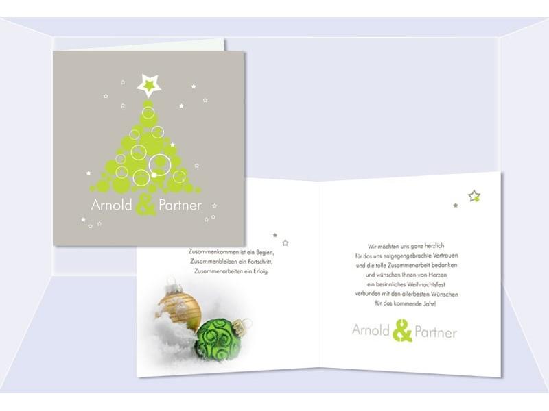 weihnachtskarten gesch ftlich karte weihnachten gr n. Black Bedroom Furniture Sets. Home Design Ideas