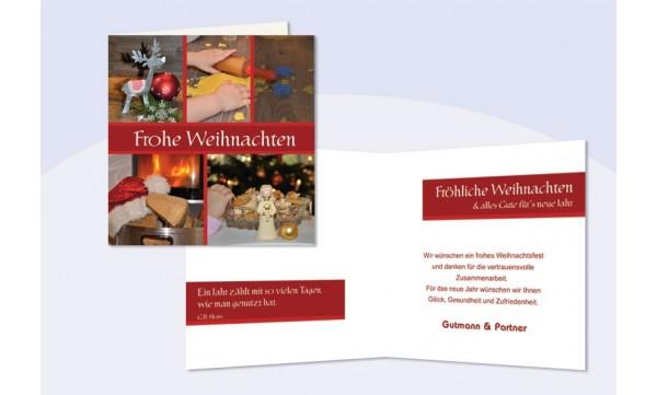Weihnachtskarten Firma Individuell.Firmen Weihnachtskarte Wintergruß