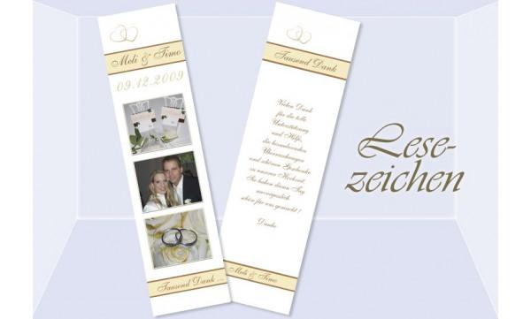 Lesezeichen Hochzeit, 5x20 cm, weiß