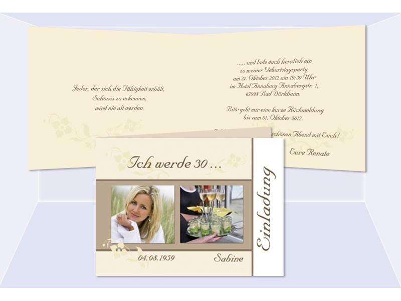 geburtstagseinladungen, einladung 50. geburtstag - sagesmitherz.de, Einladung