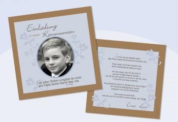 Einladungskarte Kommunion / Konfirmation - quadratisch