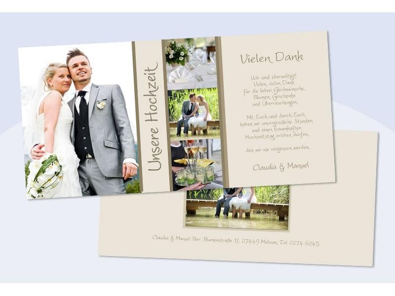 Danksagungskarte Karte Hochzeit Creme