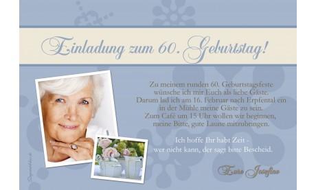 Einladung 60. Geburtstag, Fotokarte 10x15 cm, grün