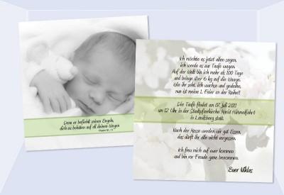 Einladung Taufe, Taufeinladung, Fotokarte, Einladungskarten, Grau,  Einladungen