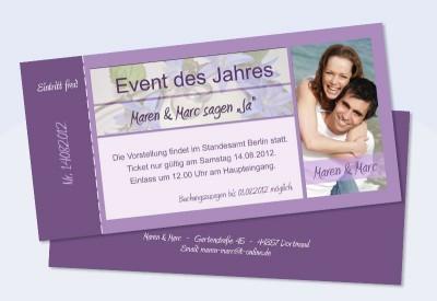 Einladungskarte, Karte Hochzeit, VIP Einladung