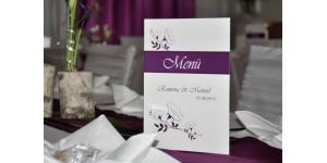 Menükarte, Getränkekarte, Hochzeitsmenü, Klappkarte A5