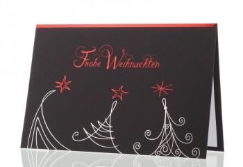 """Moderne Weihnachtskarte für Firmen, """"Tannenschwung"""""""