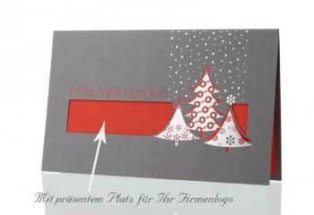 Weihnachtskarte für Firmen, Silberregen