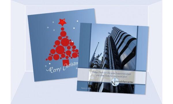 weihnachtskarte gesch ftlich mit logo und firmeneindruck. Black Bedroom Furniture Sets. Home Design Ideas