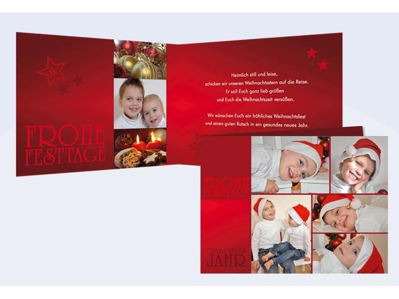 klappkarte weihnachten weihnachtskarte klassik 10x15 cm. Black Bedroom Furniture Sets. Home Design Ideas