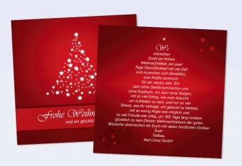"""Weihnachtskarte geschäftlich mit Logo- und Firmeneindruck """"Weihnachtsbaum"""""""
