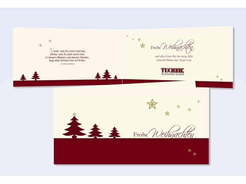 Firmen weihnachtskarte tannenzauber - Weihnachtskarten text lustig ...