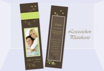 Danksagung Hochzeit, Lesezeichen / Karte , braun