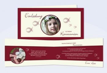 Einladungskarte, Karte zur Kommunion / Konfirmation
