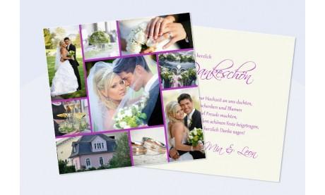 """Danksagungskarte Hochzeit, Karte Hochzeit """"Collage"""""""