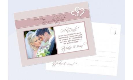 Danksagungskarte, Karte Hochzeit, Romanze