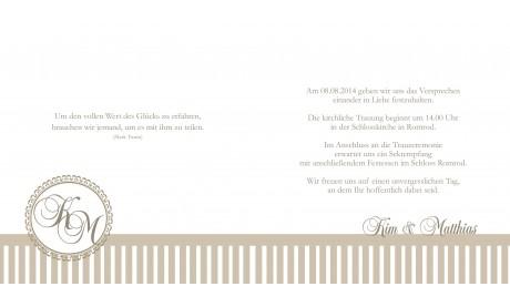 """Einladung Hochzeit """"Nostalgie"""", Klappkarte Quadrat"""