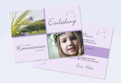 Einladungskarte Konfirmation Kommunion Flieder
