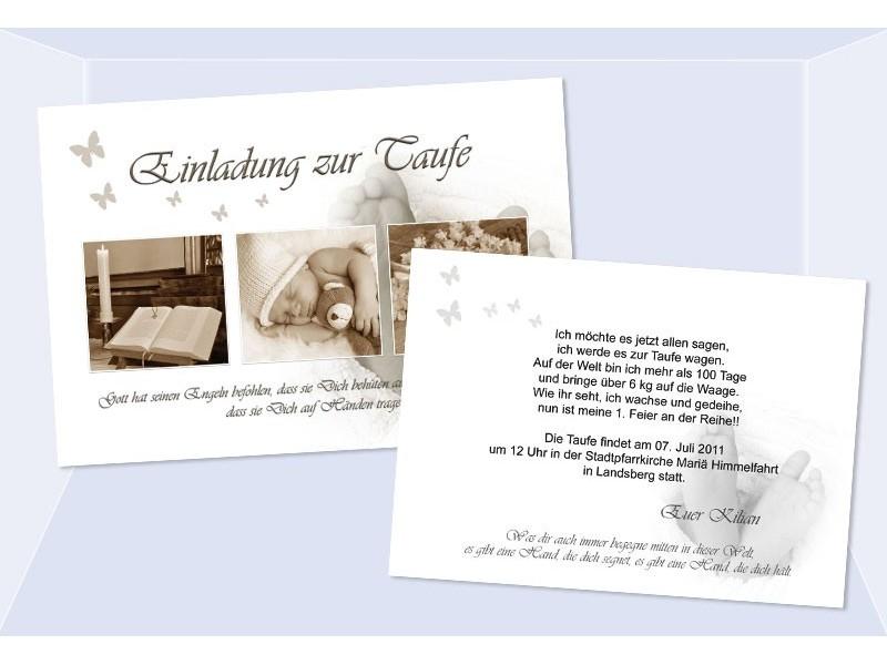 Taufkarten: Einladungen Taufe Sagesmitherz.de, Einladungs