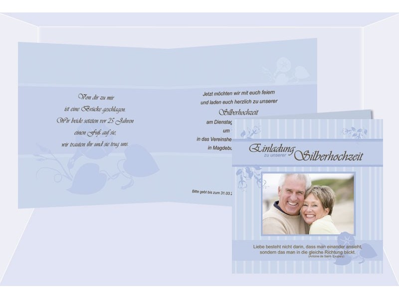 Karte Einladungskarte Silberhochzeit, Hochzeitseinladungen, Einladungs