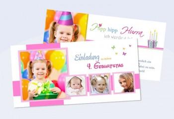 Karte Geburtstag Einladungskarte DIN Lang,
