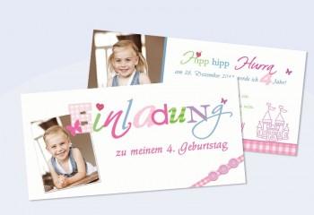 """Einladung Kindergeburtstag """"Wunderschön"""""""