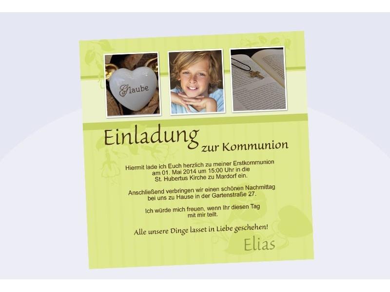 Kommunion Einladung Text – thegirlsroom.co
