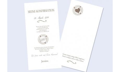 """Einladungskarte Konfirmation / Kommunion """"Schmetterling"""""""
