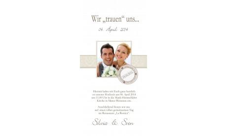 """Einladungskarte, Karte Hochzeit, """"Holzplanken""""Einladung"""