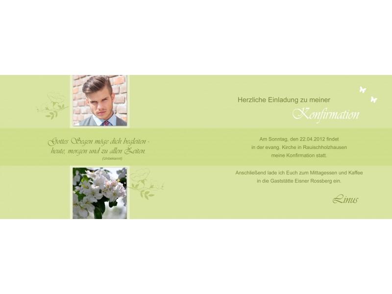 Einladung Kommunion / Konfirmation, Einladungskarte, Fotokarte ...