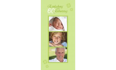 """Karte Geburtstag Einladungskarte DIN Lang """"Tom"""" in beige"""