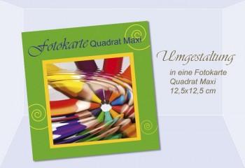 Umgestaltung Fotokarte Quadrat Maxi, 12,5x12,5 cm