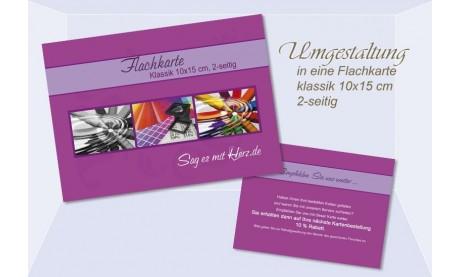 Umgestaltung Flachkarte Klassik, 10x15 cm, 2-seitig