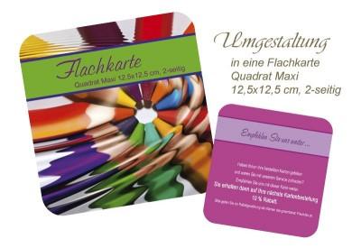 Umgestaltung Flachkarte Quadrat, 12,5x12,5 cm, 2-seitig