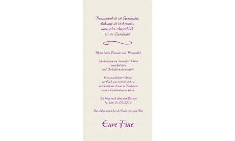 "Karte Geburtstag Einladungskarte DIN Lang ""Fine"""