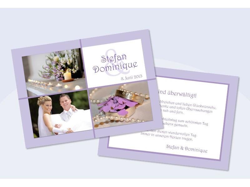 Danksagungskarten Hochzeit Karten Danksagung Hochzeitskarten Flieder
