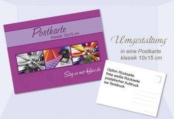 Umgestaltung Postkarte Klassik, 10x15 cm, 2-seitig