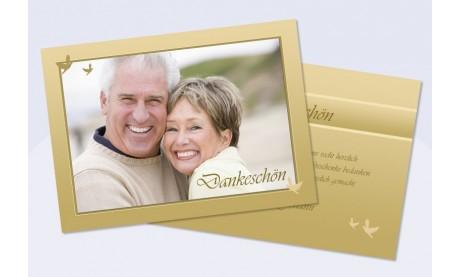Danksagungskarte, Karte Hochzeit, gold