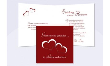 """Einladungskarte Hochzeit """"Spitze"""", Klappkarte Quadrat, cafe"""