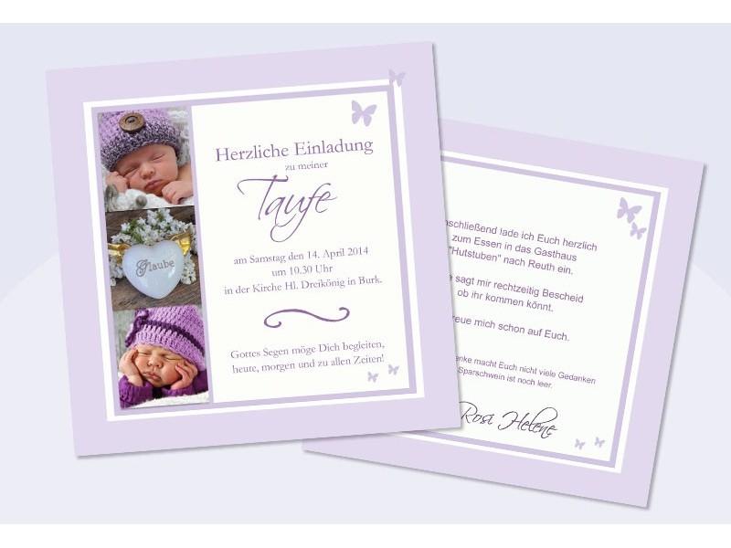 Taufspruch Einladung – thegirlsroom