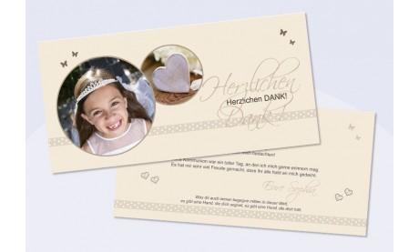 Danksagungskarte Konfirmation Kommunion, Pünktchen
