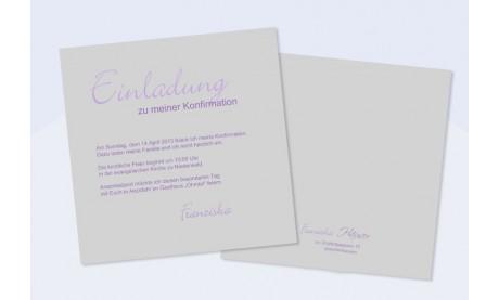 Einladungskarte Kommunion / Konfirmation - Weniger ist mehr