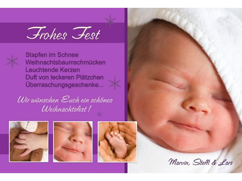 Weihnachtskarte Baby. liebe babykaufrausch. niedliche und lustige ...