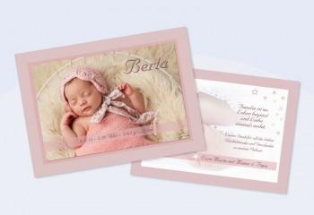 """Danksagungskarte, Karte zur Geburt DIN A6 """"Vintage-Baby"""""""