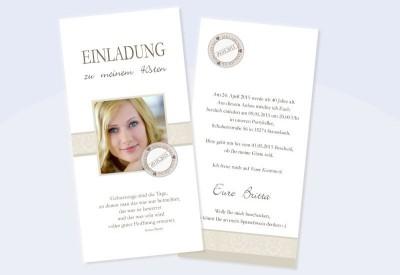 """Karte Geburtstag Einladungskarte DIN Lang """"Elegance"""""""
